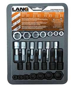 Lang Tools 2581 26-Piece Thread Restorer Tap and Die Set, black