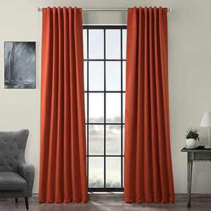 HPD Half Price Drapes BOCH-P Curtain for Room Darkening 50 X 120 (1 Panel), BOCH-201304-120, Blaze