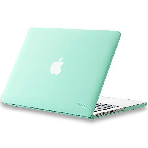 Kuzy Older Version Case Compatible with MacBook Pro 13.3 inch Case 2015-2012 Release Models A1502 A1425 - Soft Touch Plastic Hard Shell Cover for 13 inch MacBook Pro Case, Mint Green