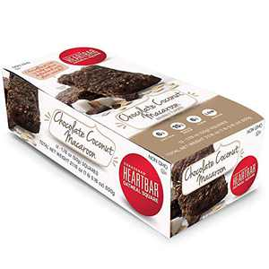 Corazonas Heartbar Oatmeal Square, Chocolate Coconut Macaroon, 1.76 Ounce, 12 Count (Packaging may vary)