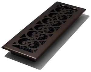 Decor Grates SPH414-RB Floor Register, 4x14, Rubbed Bronze Finish