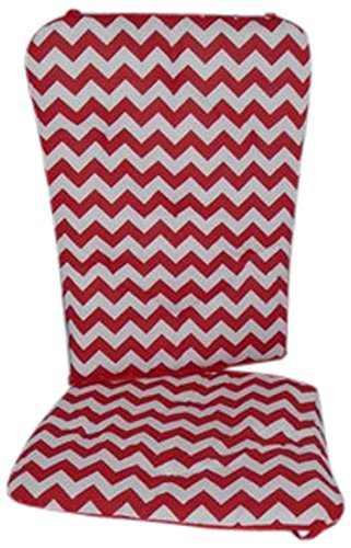 Baby Doll Bedding Chevron Rocking Chair Pad, Red