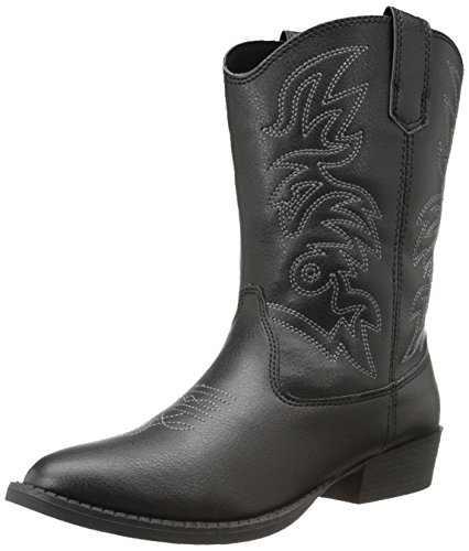 Deer Stags Ranch Kids Cowboy Boot (Toddler/Little Kid/Big Kid), Black, 6 M US Big Kid