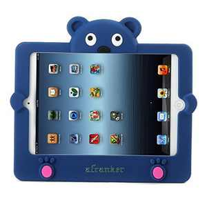 Afranker iPad Mini Silicone Soft Portable Lightweight Kids Proof Shock Proof Drop Proof Case for iPad Mini & iPad Mini 2 (Blue)
