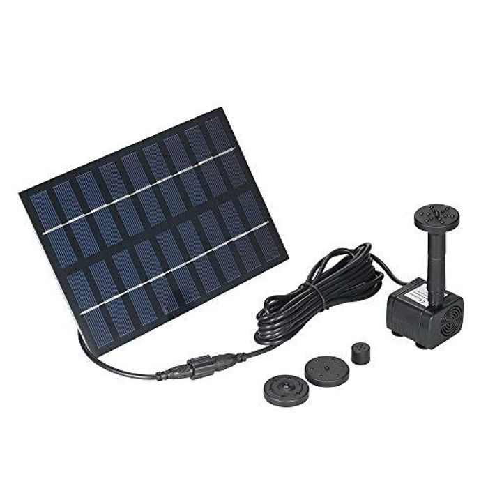 Anself Solar Pond Pump Solar Fountain Pump Solar Powered Water Pump 9V 1.8W 200L/H