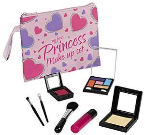 Playkidz My First Princess Pretend Makeup Set, 8 Piece Pretent Play Makeup Set for Girls, Fake Makeup Toy for Toddlers and Little Girls, Great for Play Dates, Rainy Days, Or Everyday Use.