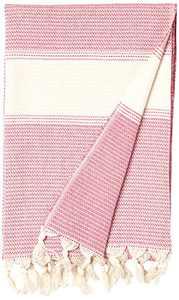 Cacala Pestemal Turkish Bath Towels 37x70%100 CottonTM DarkPink