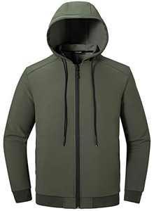 Wantdo Men's Slim Fit Lightweight Windbreaker Casua Jacket Outdoor Sportswear US XL Army Green