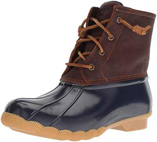 Sperry Womens Saltwater Boots, Tan/Navy, 11