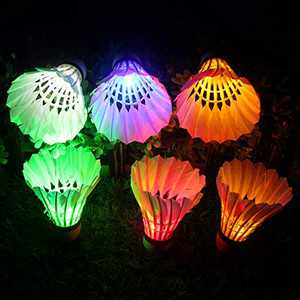 LED Badminton Light UP Shuttlecock Plastic Glow Birdies for Night Sport