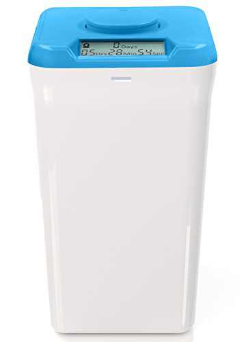 """Kitchen Safe XL: Time Locking Container (Blue Lid + White Base) - 10.4"""" Height"""
