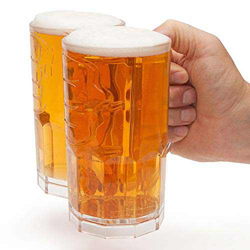 Two Fisted Drinker Beer Mug - Clear | One of the best beer gifts for men or women.