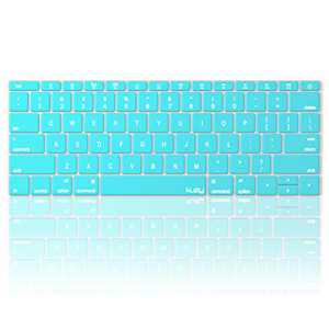 Kuzy Compatible with MacBook Pro 13 inch Keyboard Cover A1708 No TouchBar and MacBook 12 inch Keyboard Cover A1534 Silicone Skin, Teal