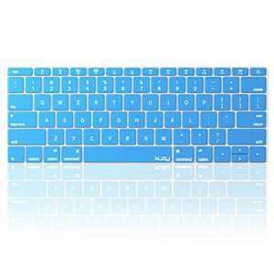 Kuzy Compatible with MacBook Pro 13 inch Keyboard Cover A1708 No TouchBar and MacBook 12 inch Keyboard Cover A1534 Silicone Skin, Aqua