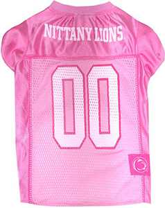 Pets First Collegiate Penn State Nittany Lions Dog Jersey, Medium, Pink