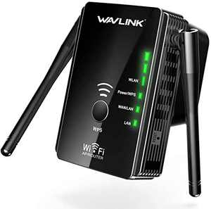 Wavlink WiFi Extenders Signal Booster N300 Mbps Wireless Wi Fi Long Range Repeater Bridge 4 in 1 Router Wi-Fi Network Access Point Signals and Extend to Smart Home and Alexa Devices (Black 1)