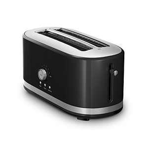 KitchenAid KMT4116OB 4 Slice Long Slot Toaster with High Lift Lever, Onyx Black