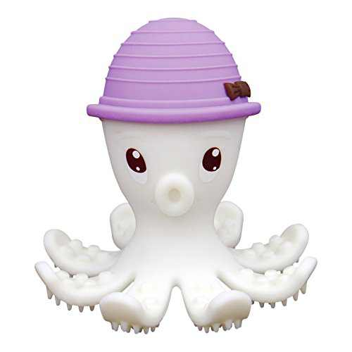Mombella Ollie The Octopus Silicone Teether Toy/Toothbrush/Bath Toy, Baby Mouth Toy for 3months-2 Years, Lilac