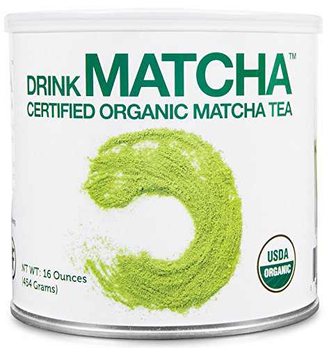 DrinkMatcha - Matcha Green Tea Powder - USDA Organic - 100_ Pure Matcha Green tea Powder - Nothing added (16 Ounce)