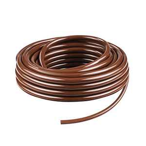 KORAM Drip Irrigation 1/4 Blank Distribution Tubing Drip Watering Hose 50ft Roll with Plant Tag, Brown