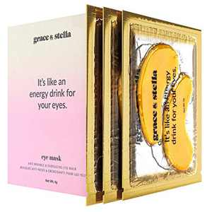 Grace & Stella Under Eye Patches for Dark Circles and Puffiness - Vegan - Gold Under Eye Mask Gel Patches to Reduce Puffy Under Eye Mask (12 Pack)