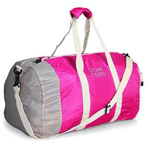 travel inspira Foldable Nylon Duffel Bag - Water Resistant - Collapsible - Packable and Lightweight - Ideal for Sports and Gym
