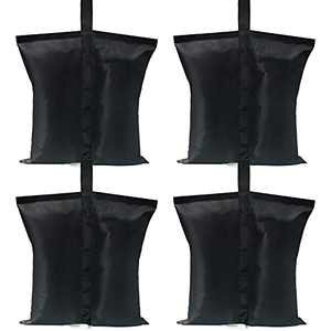 ABCCANOPY Canopy Weights Gazebo Tent Sand Bags,4pcs-Pack (Black)