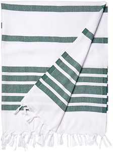 Cacala Peshtemal Turkish Towels 37x70 100% Cotton Army Green