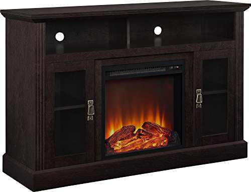 """Ameriwood Home Chicago Electric Fireplace TV Console for TVs up to a 50"""", Espresso,1764096PCOM"""