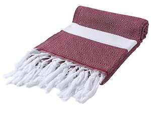 Cacala Peshtemal Turkish Hammam Towel 37x67 100% Cotton Burgundy