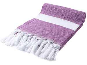 Cacala Peshtemal Turkish Hammam Towel 37x67 100% Cotton Purple