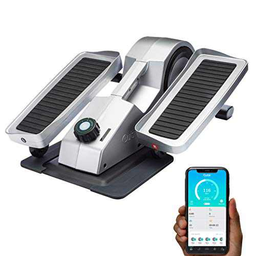 Cubii Pro - Seated Under-Desk Elliptical - Get Fit While You Sit - Bluetooth Enabled, Sync with Fitbit and Apple HealthKit - Whisper-Quiet - Adjustable Resistance - Easy to Assemble (Chrome)