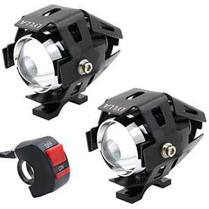 LYLLA CREE U5 LED Lamp Headlight Fog Light Spotlight for Motorcycle/ATV/Truck w/ON/Off Switch Button (Pack of 2)