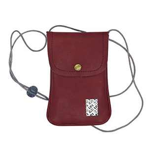 LefRight Casual Fashion PU Leather Cellphone Neck Pouch Bag Credit Card Holder with adjustable Sling for iPhone XR 7 Plus Galaxy S3 S4 S5 S6 S7 Edge