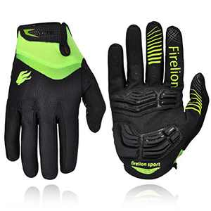FIRELION Cycling Gloves Mountain Bike Gloves Road Racing Bicycle Gloves Gel Pad Riding Gloves Touch Recognition Full Finger Gloves