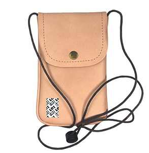 LefRight Casual Fashion PU Leather Cellphone Neck Pouch Bag Credit Card Holder with Adjustable Sling for iPhone XR 6s Plus Galaxy S3 S4 S5 S6 S7 Edge