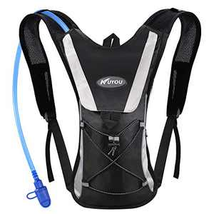 Hydration Pack with 2L Hydration Bladder Water Rucksack Backpack Bladder Bag Cycling Bicycle Bike/Hiking Climbing Pouch (Black)