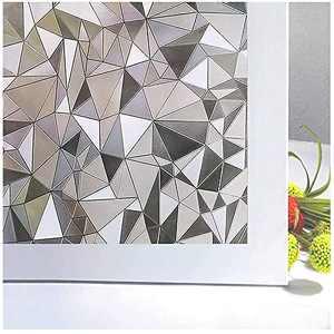 "Niviy 3D No Glue Stati Cling Window Films Privacy Cut Glass Window Sticker for Bathroom Office Kitchen Window Decor 17.7""x 78.7"""