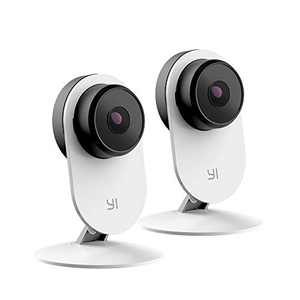 YI 2pc Security Home Camera 3 Baby Monitor, 1080p WiFi Smart Wireless Indoor Nanny IP Cam with Night Vision, 2-Way Audio, Motion Detection, Phone App, Pet Cat Dog Cam - Works with Alexa and Google