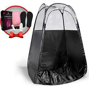 Spray Tan Tent (Black) The Best, Bigger Than Others, Folds Easily in 30 Seconds and Has NO Logo On Tent Itself!