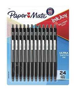 Paper Mate 1945925 InkJoy 300RT Retractable Ballpoint Pens, Medium Point, Black, 24 Count