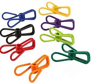 Ocharzy Chip Clips Food Bag Clips Wire Clips Picture Art Clips Pack of 30 Random Color