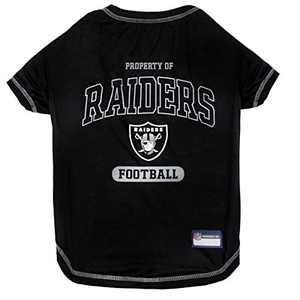 PET SHIRT for Dogs & Cats - NFL LOS VEGAS RAIDERS Dog T-Shirt, X-Large. - Cutest Pet Tee Shirt for the real sporty pup
