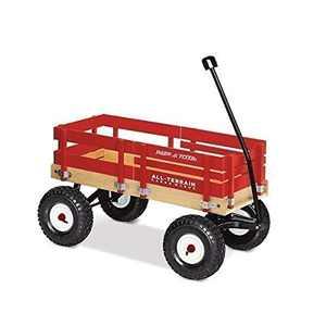 Radio Flyer All-Terrain Cargo Wagon for Kids, Garden and Cargo, Red