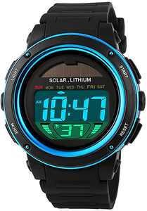 Kids Watch,Boys Girls Watch for 6-15 Year Old Boys, Digital Military Men Watch Outdoor Sport Multifunction 50M Waterproof LED Light Alarm Calendar Date with Silicone Band