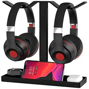 Headphone Stand, MOCREO Acrylic Dual Balance Headset Stand Gaming Headphone Holder/Mount/Hanger, Desktop Headset Holder/Mount/Hanger, Extra Thick