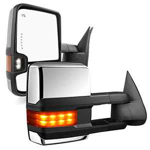 YITAMOTOR Tow Mirrors Power Heated Arrow Signals Lights Compatible with Chevy Silverado GMC Sierra 03-07, Cadillac Escalade 03-06, 2 Pack