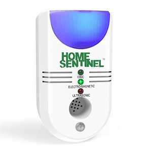 Home Sentinel 5 in 1- Rodents Pest Control Insect and Rodent Repeller - Ultrasonic, Electromagnetic Repeller with Ionizer and Automatic Night Light