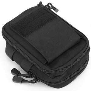 LefRight Multipurpose Tactical Nylon Molle Utility IFAK Pouch Waist Bag Holster Combo Detachable Strap Compatible with iPhone XR 7 Plus Pixel XL S8 S7 Edge Moto Z Force Play (Black)