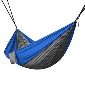 Keeble Outlet Two Person Hammock for Camping - Portable Nylon Backpacking Hammock - Camping Accessories Clearance Fun Camping Stuff Legit Camping Hammock Heavy Duty - Hammock Chair Camping Must Haves